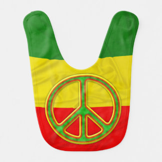Símbolo de paz de Rasta Babero De Bebé