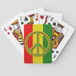 Símbolo de paz de Rasta Baraja De Póquer