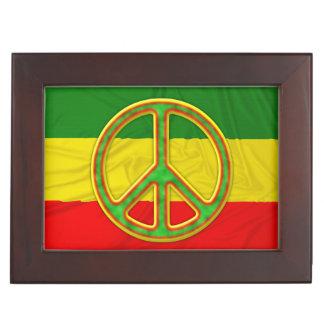 Símbolo de paz de Rasta Caja De Recuerdos