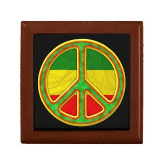 Símbolo de paz de Rasta Caja De Joyas