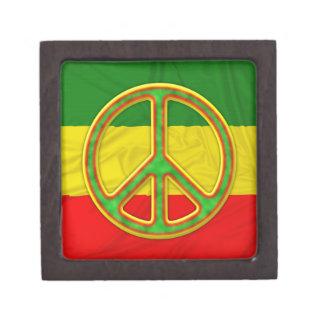 Símbolo de paz de Rasta Cajas De Regalo De Calidad