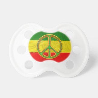 Símbolo de paz de Rasta Chupetes De Bebé