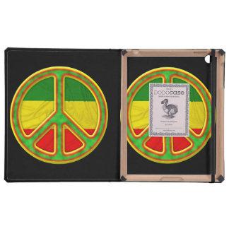 Símbolo de paz de Rasta iPad Cárcasas