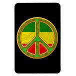 Símbolo de paz de Rasta Imán De Vinilo