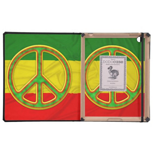 Símbolo de paz de Rasta iPad Carcasas