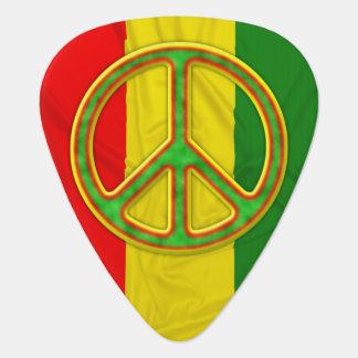 Símbolo de paz de Rasta Plumilla De Guitarra