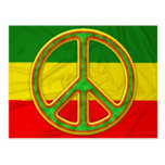 Símbolo de paz de Rasta Postales