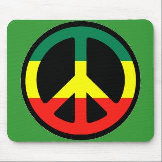 Símbolo de paz de Rasta Mouse Pad