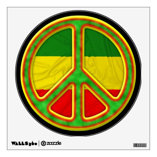 Símbolo de paz de Rasta Vinilo