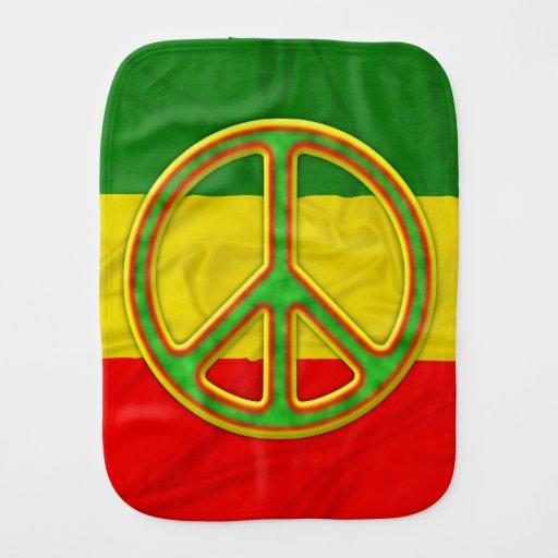 Símbolo de paz de Rasta Paños De Bebé