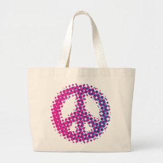 Símbolo de paz de semitono bolsa lienzo