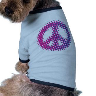 Símbolo de paz de semitono camisa de perro