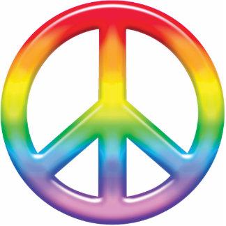 Símbolo de paz del arco iris adorno fotoescultura