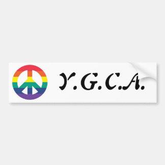 Símbolo de paz del arco iris de YGCA Pegatina Para Auto