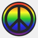 Símbolo de paz del arco iris etiquetas