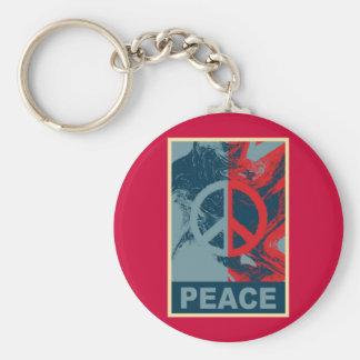 Símbolo de paz del ARTE POP Llavero Redondo Tipo Pin