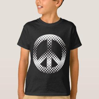 Símbolo de paz del arte pop playera