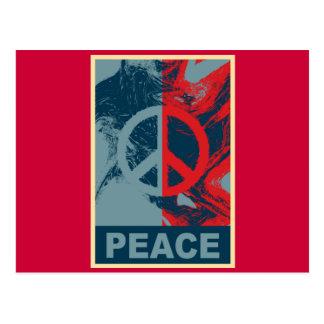 Símbolo de paz del ARTE POP Tarjetas Postales