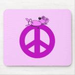 Símbolo de paz del ratón alfombrilla de ratones