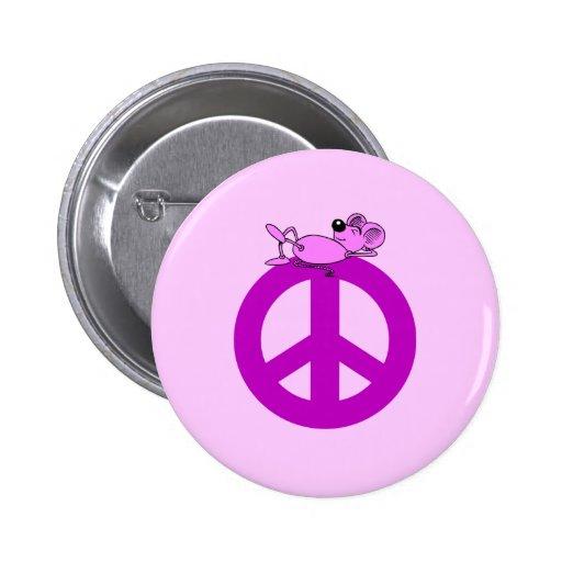 Símbolo de paz del ratón pin