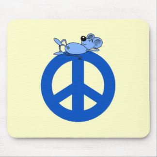 Símbolo de paz del ratón alfombrillas de ratones