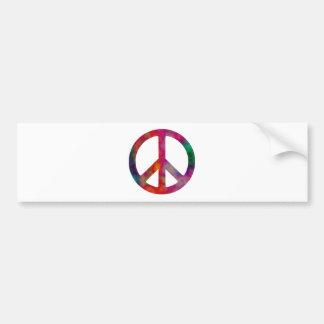Símbolo de paz del teñido anudado pegatina para auto