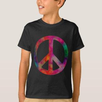 Símbolo de paz del teñido anudado playera