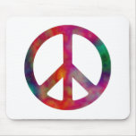 Símbolo de paz del teñido anudado tapete de raton