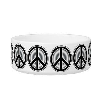 Símbolo de paz del vintage comedero para mascota
