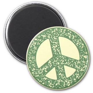 Símbolo de paz - dist-sello imán redondo 5 cm