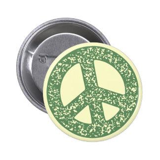 Símbolo de paz - dist-sello pin redondo 5 cm