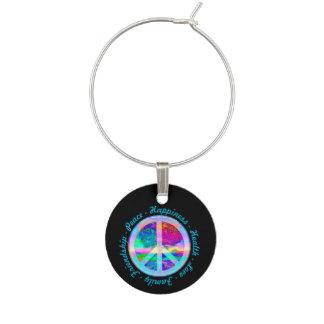 Símbolo de paz en colores del arco iris con el identificador de copa