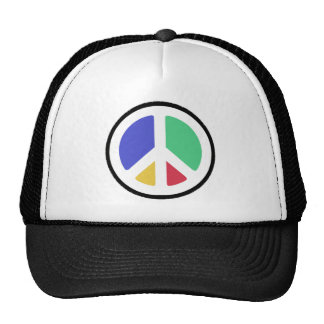 ¡Símbolo de paz en colores! Gorras