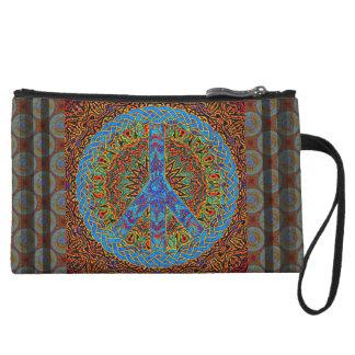 Símbolo de paz en modelo marrón y azul