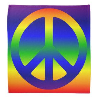 Símbolo de paz enrrollado del arco iris bandanas