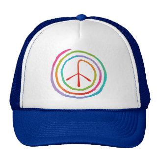 Símbolo de paz espiral de neón II Gorra
