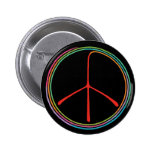 Símbolo de paz espiral de neón pin