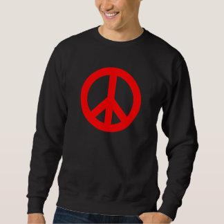 Símbolo de paz estándar rojo suéter