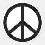 símbolo de paz etiqueta redonda