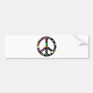 Símbolo de paz floral pegatina de parachoque