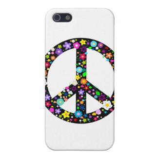 Símbolo de paz floral iPhone 5 cárcasa