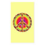 Símbolo de paz floral tarjetas de visita