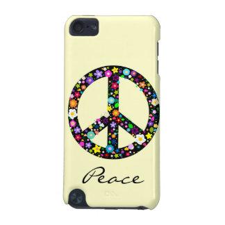 Símbolo de paz florido