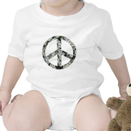 símbolo de paz florido traje de bebé