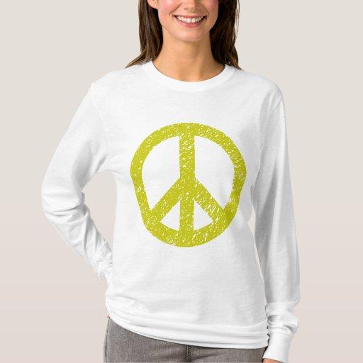 Símbolo de paz garabateado - plátano playera