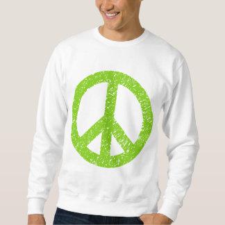 Símbolo de paz garabateado - verde de Martian Sudaderas Encapuchadas