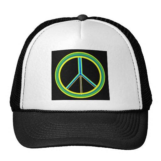 Símbolo de paz gorras de camionero