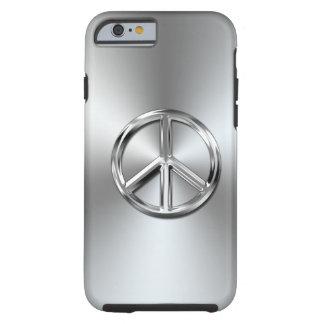 Símbolo de paz gráfico de la pendiente de acero funda para iPhone 6 tough