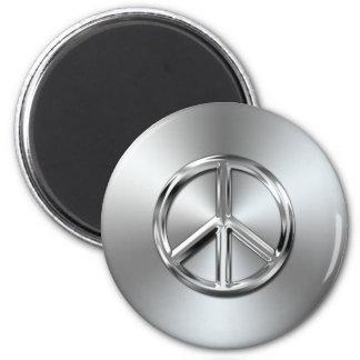 Símbolo de paz gráfico de la pendiente de acero imán para frigorifico