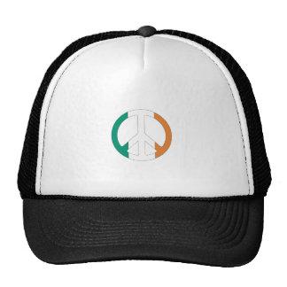 Símbolo de paz irlandés de la bandera gorras de camionero